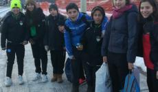 Gli Esordienti dell'Oulx in partenza per Torino