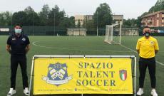 Francesco Gallo con il presidente dello Spazio Talent Soccer, Tony Tucci