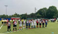 Tutte le squadre dell'All Stars per la manifestazione sul campo del Lucento