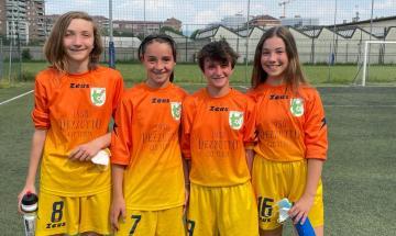 Alice Monticone, Nicole Gualandi, Giulia Montinaro e Emma Terzolo