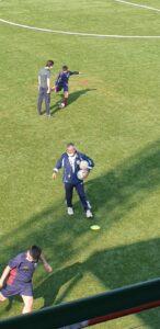 Gian Piero Milazzo sul campo