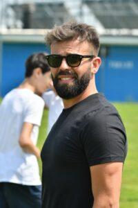 Fabio Oranges, allenatore degli Esordienti 2008 della Bruinese