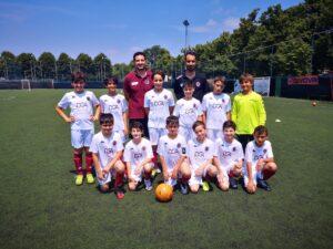 I Pulcini del Vanchiglia con l'allenatore Marco Burbaci e il dirigente Fabrizio Noiosi